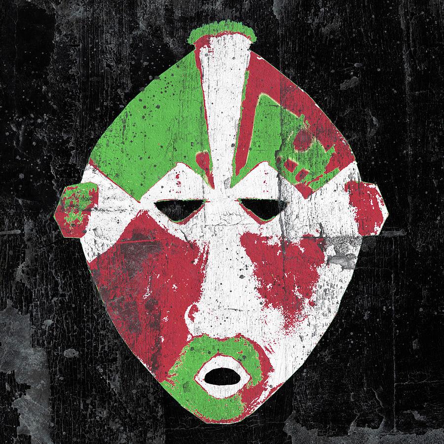 Red Digital Art - Mask by Regina Wyatt
