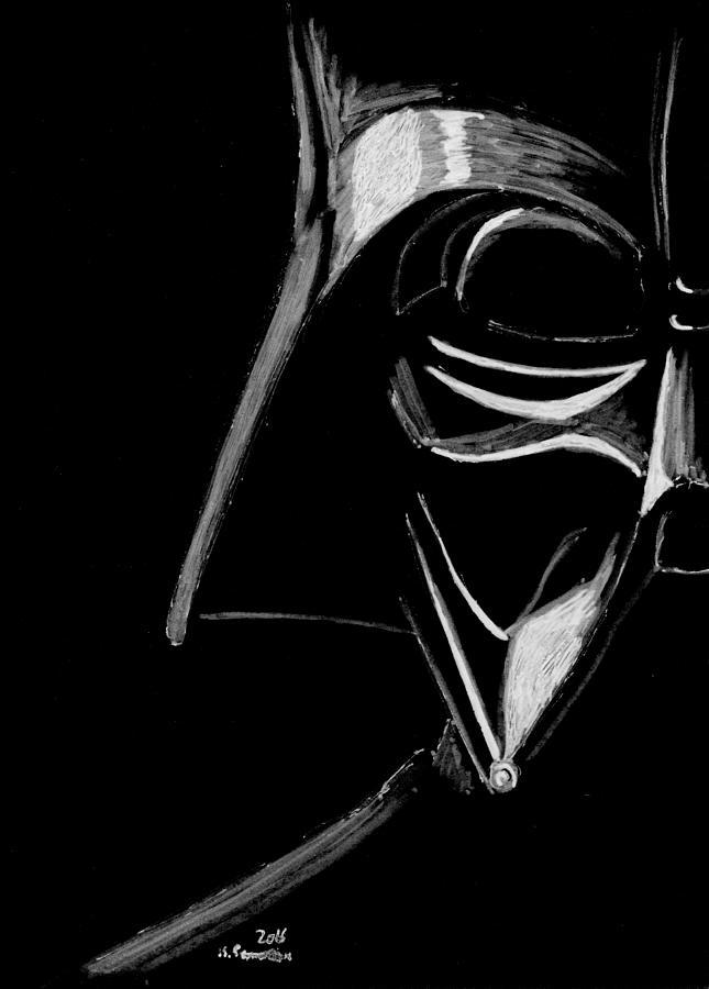 Darth Drawing - Masked Empire by Kayleigh Semeniuk
