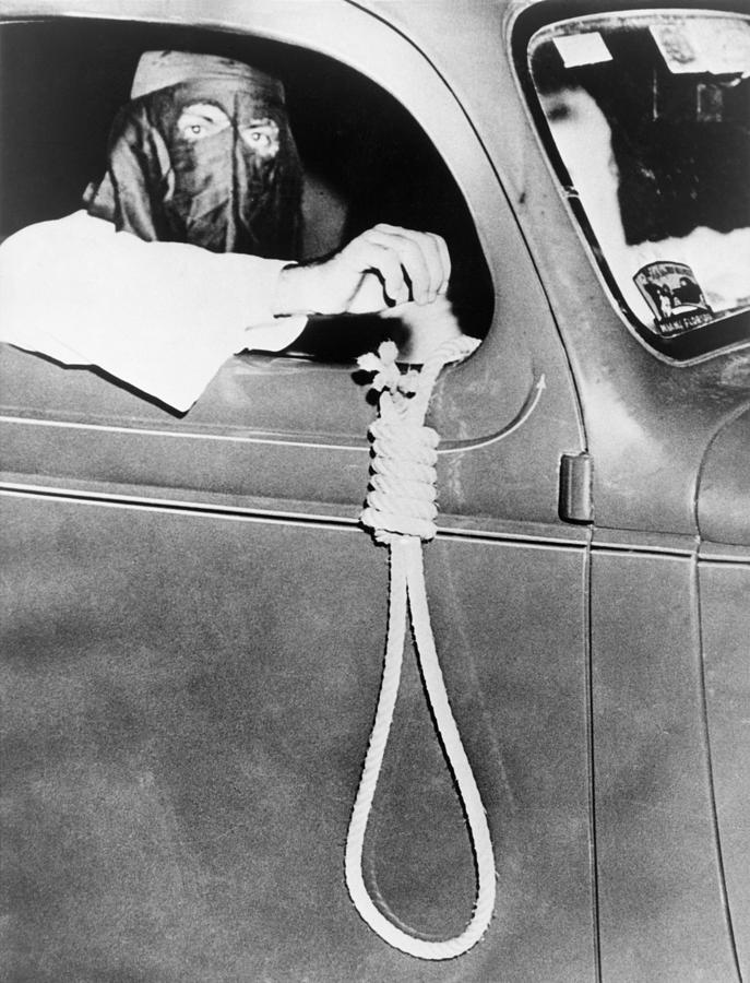 History Photograph - Masked Ku Klux Klan Member, Holds by Everett