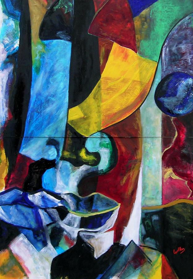 Oil Painting - Masks by Leonblas Leonblas