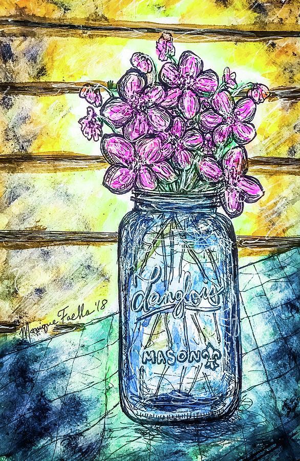 Mason Jar Bouquet by Monique Faella