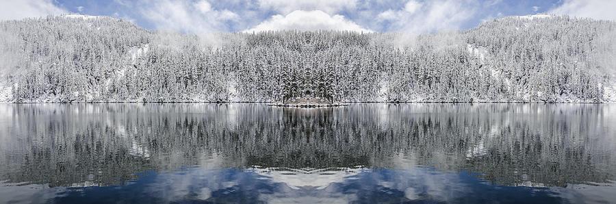 Mason Lake Reflection Digital Art