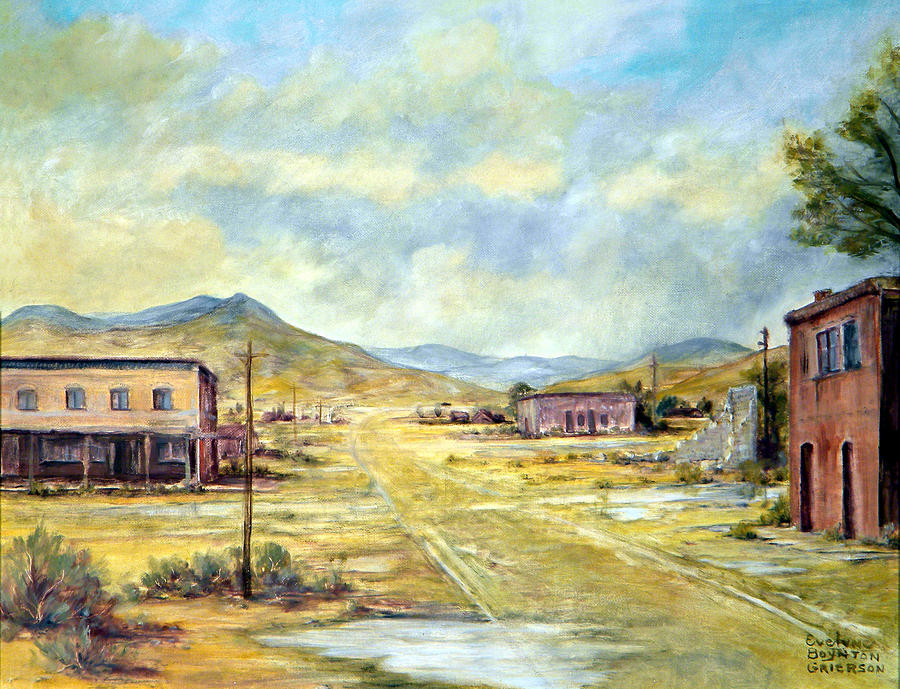 West Painting - Mason Nevada by Evelyne Boynton Grierson