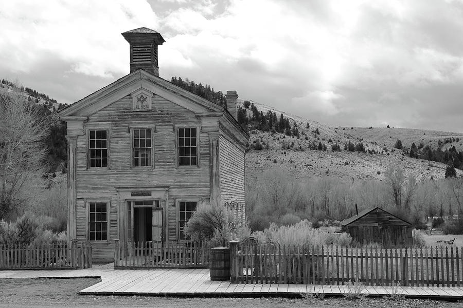 Masons Photograph - Masonic Hall  Bannack by Whispering Peaks Photography