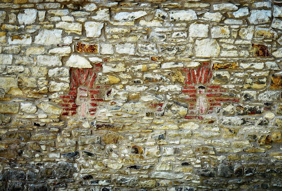 Antique Photograph - masonry Locked windows on the stone wall by Jozef Jankola