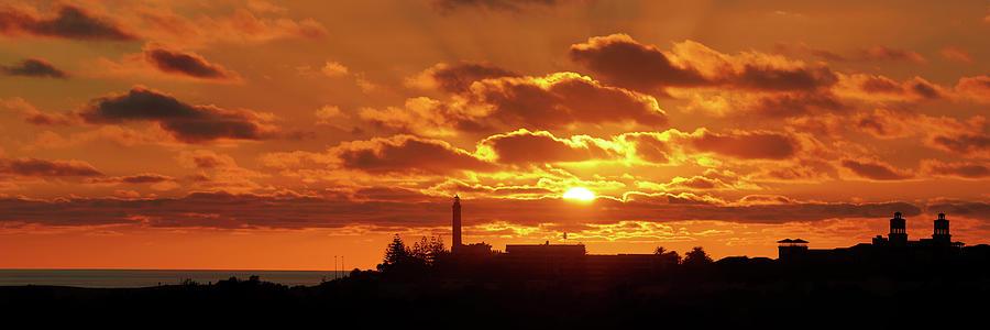 Maspalomas Sunset Panorama by Marc Huebner