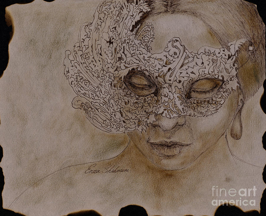 Masquerade Drawing By Portraits NC