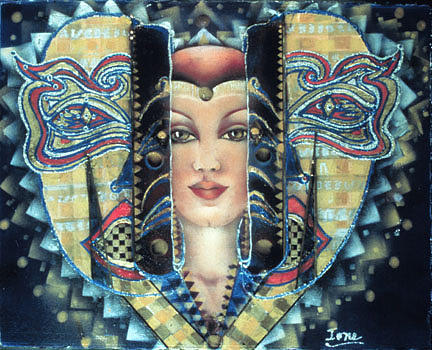 Masquerade Painting - Masquerade by Ione Citrin