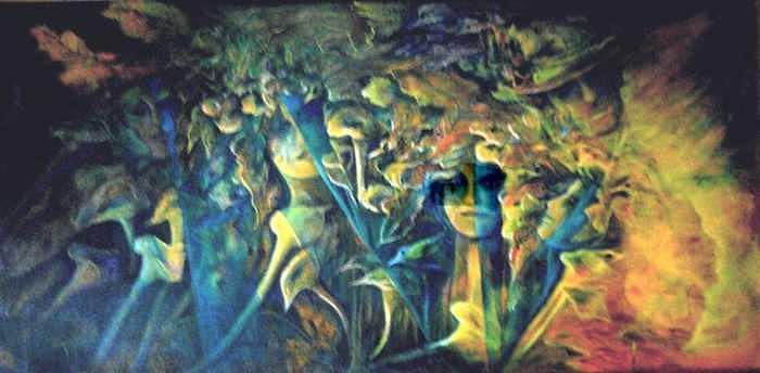 Masquerade Painting by Lozano Mary