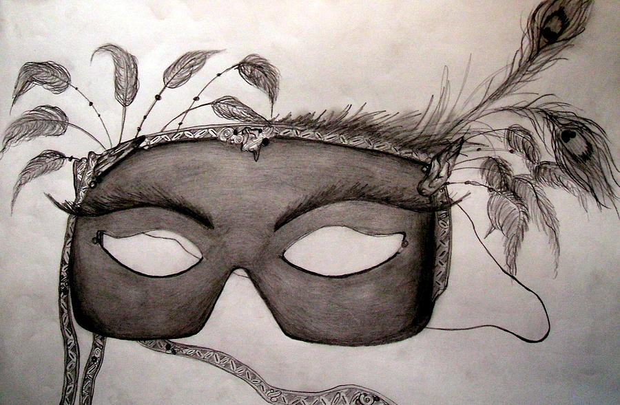 Masquerade Mask Drawing By Colene Milligan