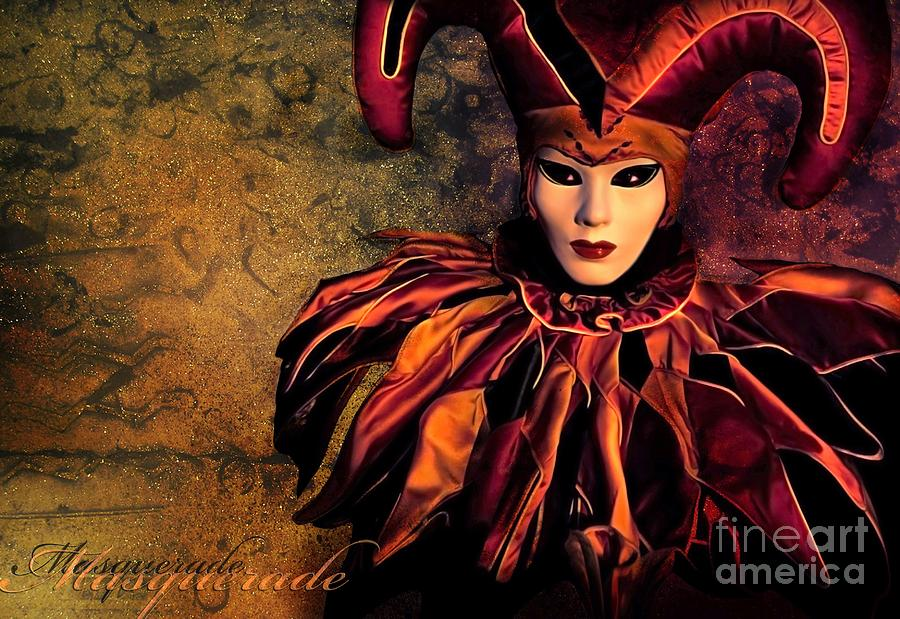Mask Photograph - Masquerade by Jacky Gerritsen