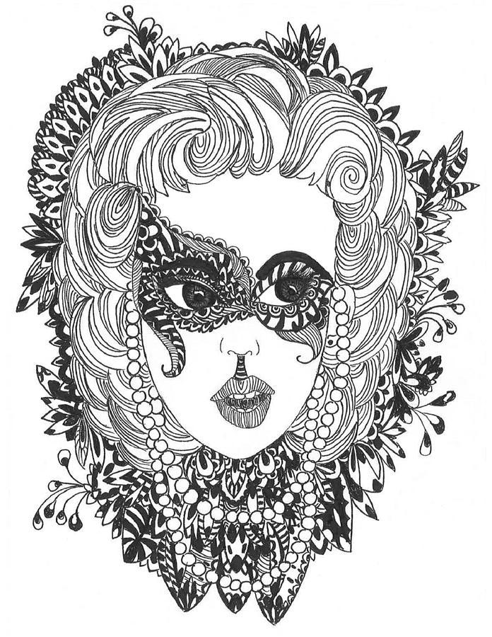 Masquerade Drawing By SoggyRamenArt
