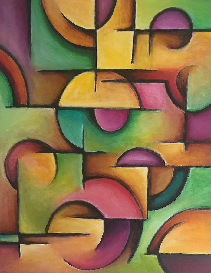Contemporary Painting - Mass 2 by D August