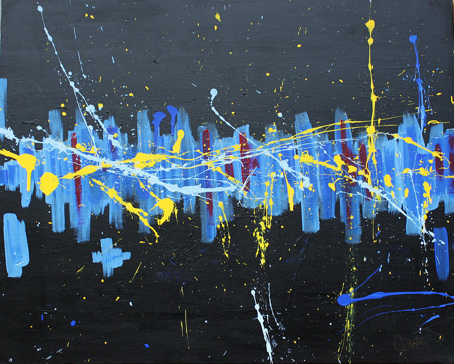 Contemporary Abstract Painting - Mass Destruction by John Wesley