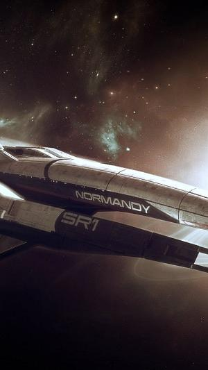 Mass Effect Normandy Space Planets Stars 15861 300x533 Digital Art by Mery Moon