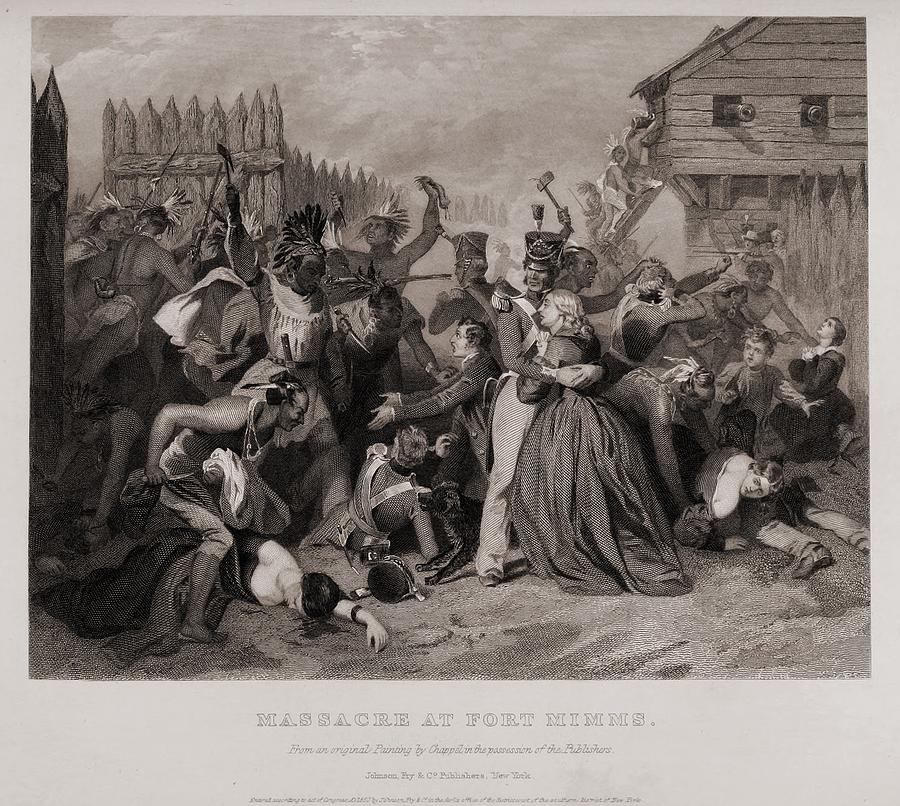 History Photograph - Massacre At Fort Minns. On August 30 by Everett