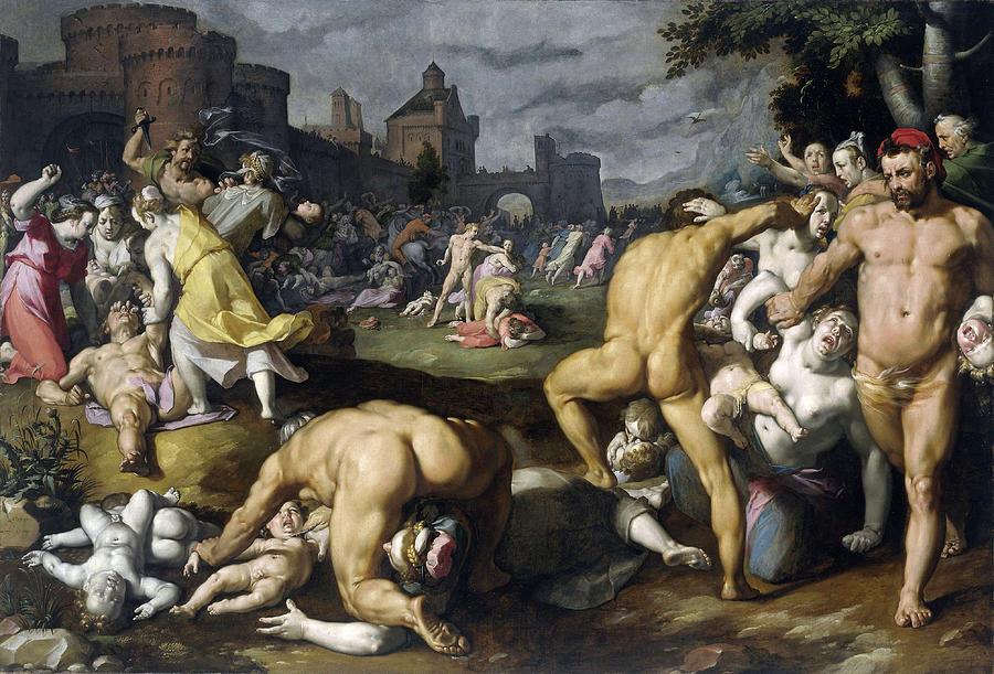 Massacre Of The Innocents Painting by Cornelis Cornelisz ...