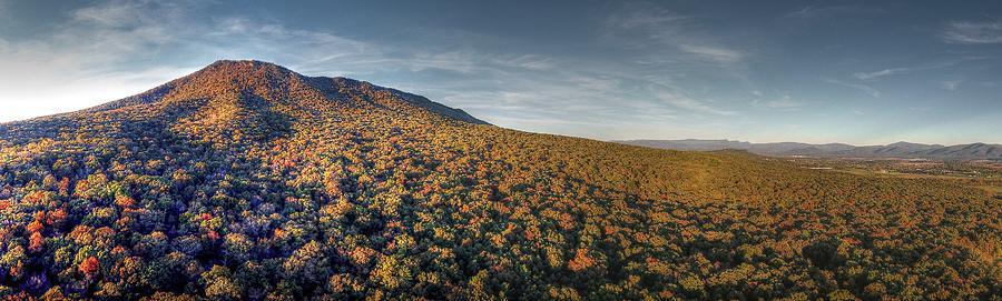 Massanutten Mountain Photograph - Massanutten Mountain Fall 2016 by Tredegar DroneWorks