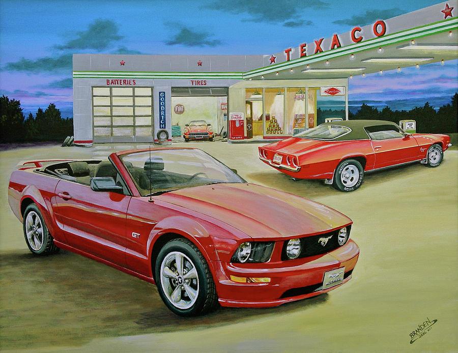 Mast Mustang Painting by Branden Hochstetler