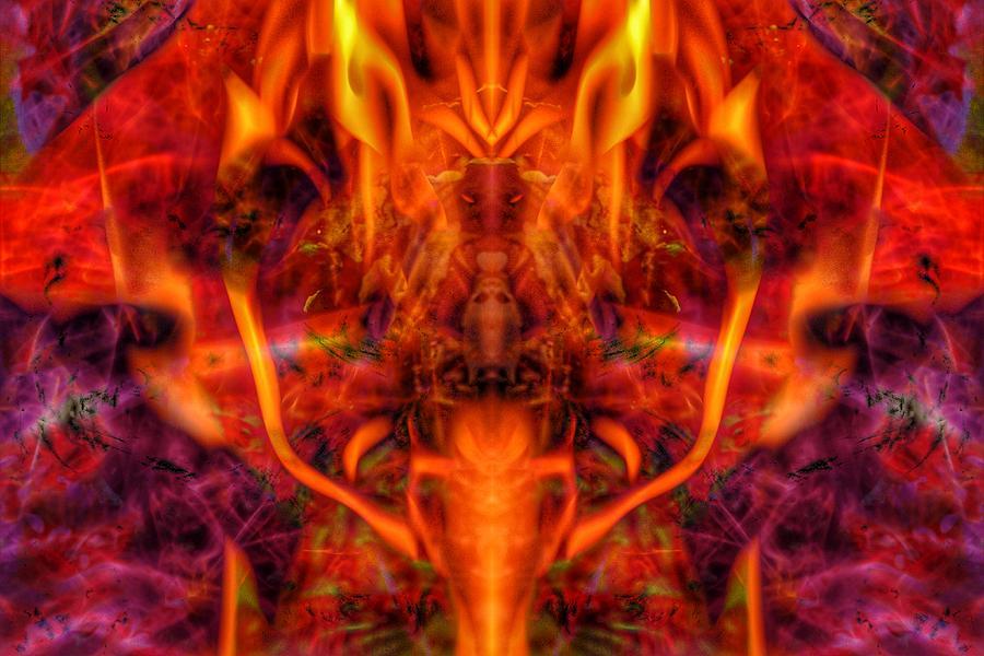 Satan Photograph - MASTEMA, Edit C by Nawfal Johnson