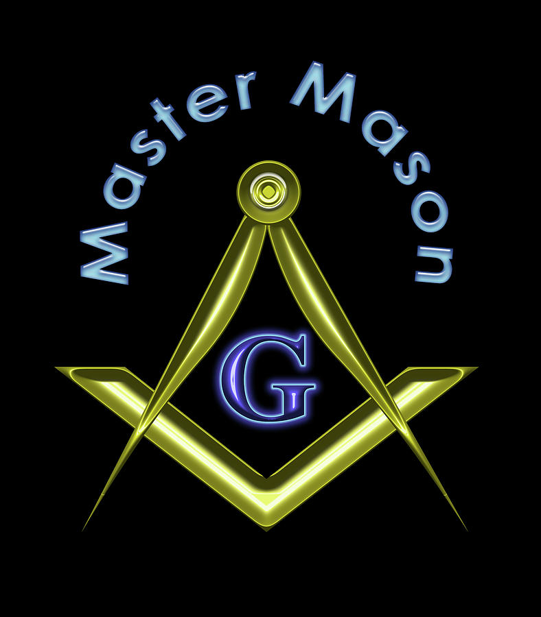 Master Digital Art - Master Mason In Black by Reynaldo Williams