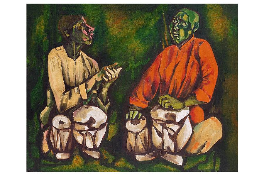 Painting Painting - Master Of Tabla by Lalit Solanki