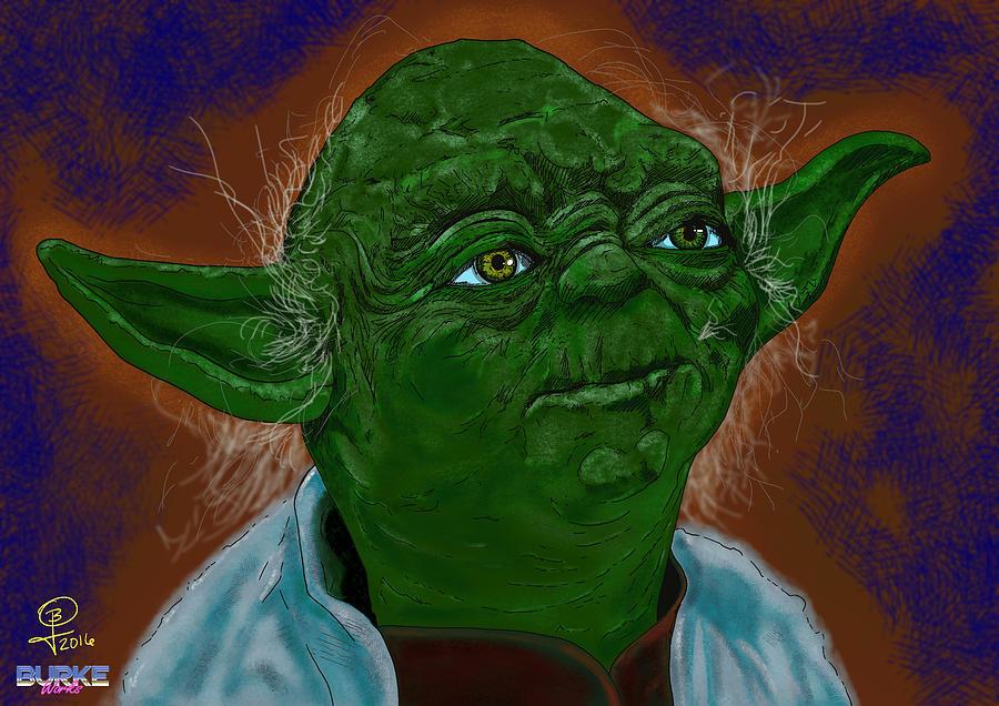 Yoda Digital Art - Master Yoda by Joseph Burke