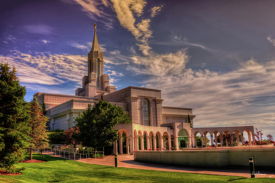 Bountiful Temple Photograph - Masters Hand by David Simpson