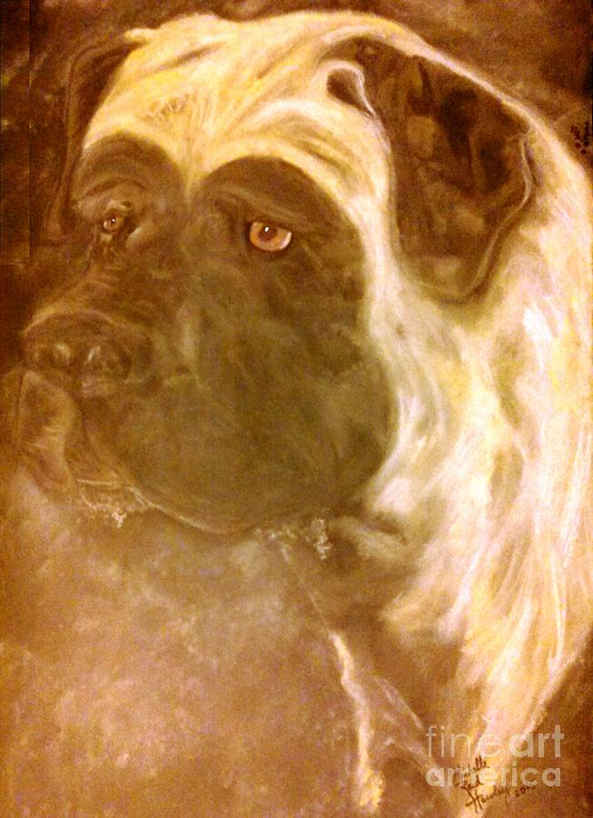 Mastiff Painting - Mastiff Oath by Michelle Reid