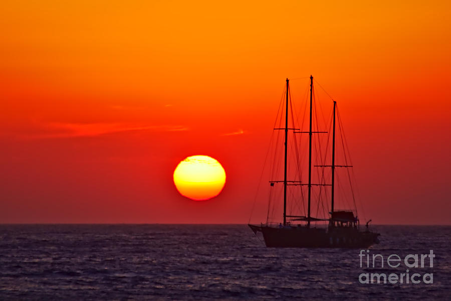 Masts in the Sunset by Jeremy Hayden
