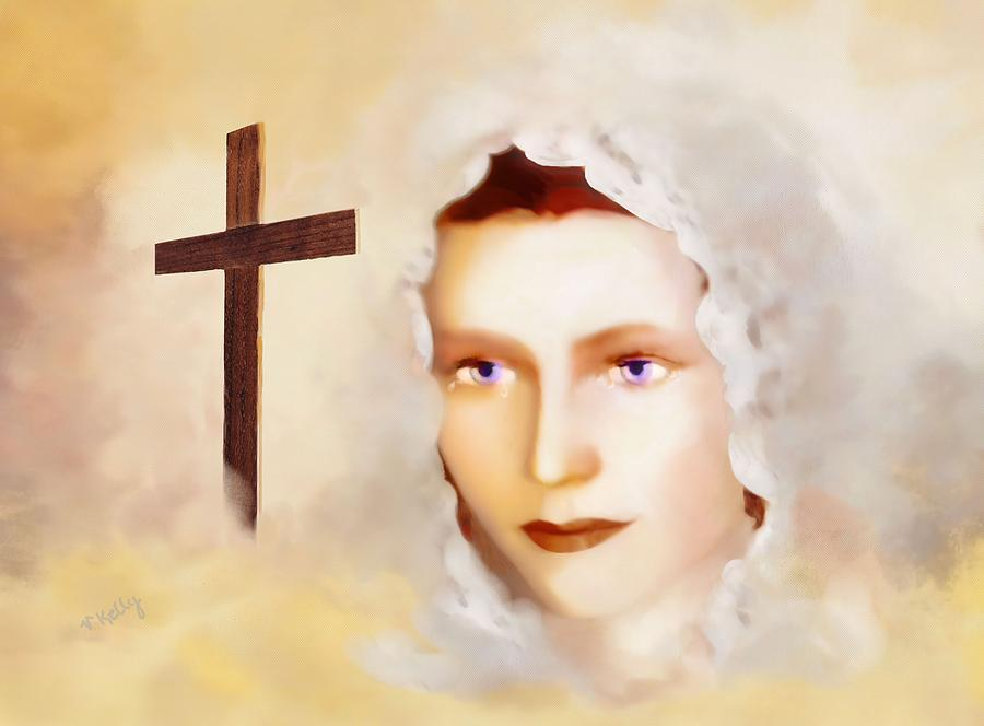 Portrait Painting - Mater Dolorosa by Valerie Anne Kelly