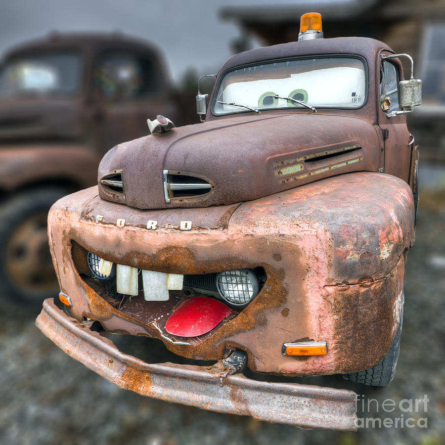 Mater From Cars 2 Ford Truck Photograph by Dustin K Ryan