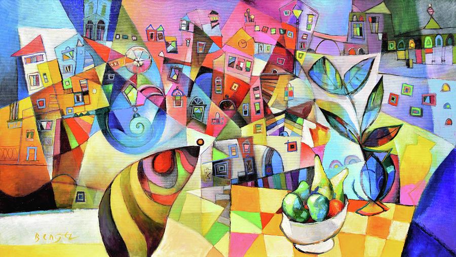 Matera Painting - Matera by Miljenko Bengez