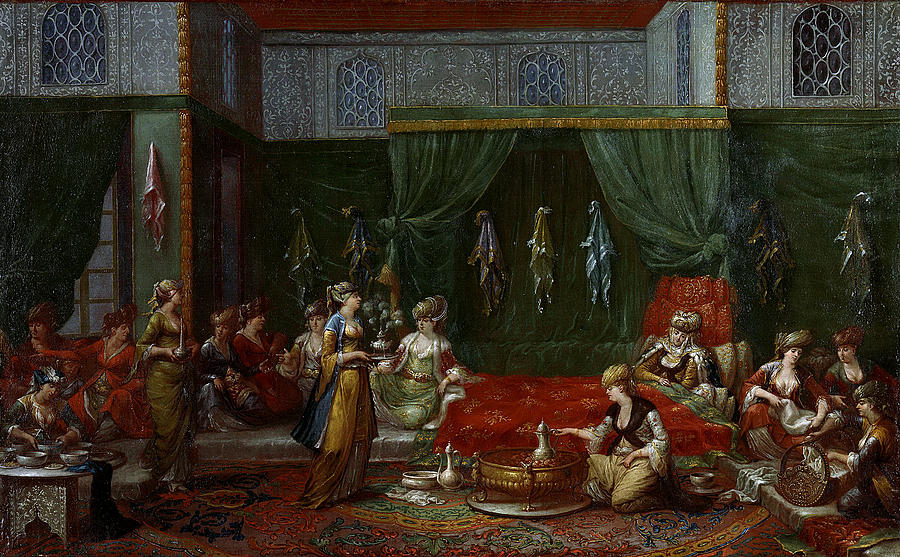 Jean-baptiste Painting - Private Chamber Of An Aristocratic Turkish Woman by Jean Baptiste Van Mour