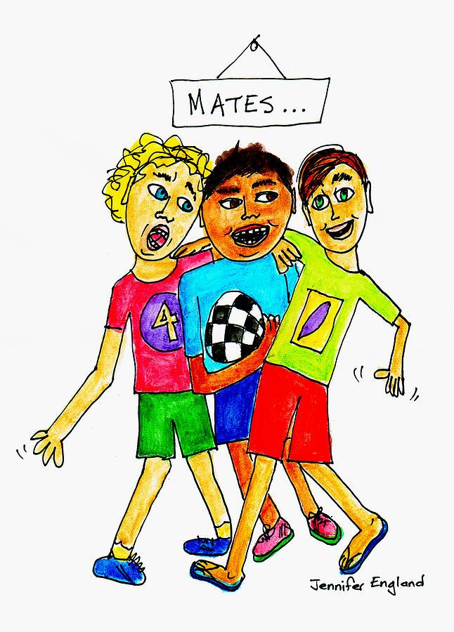 T-shirt Painting - Mates by Jennifer England