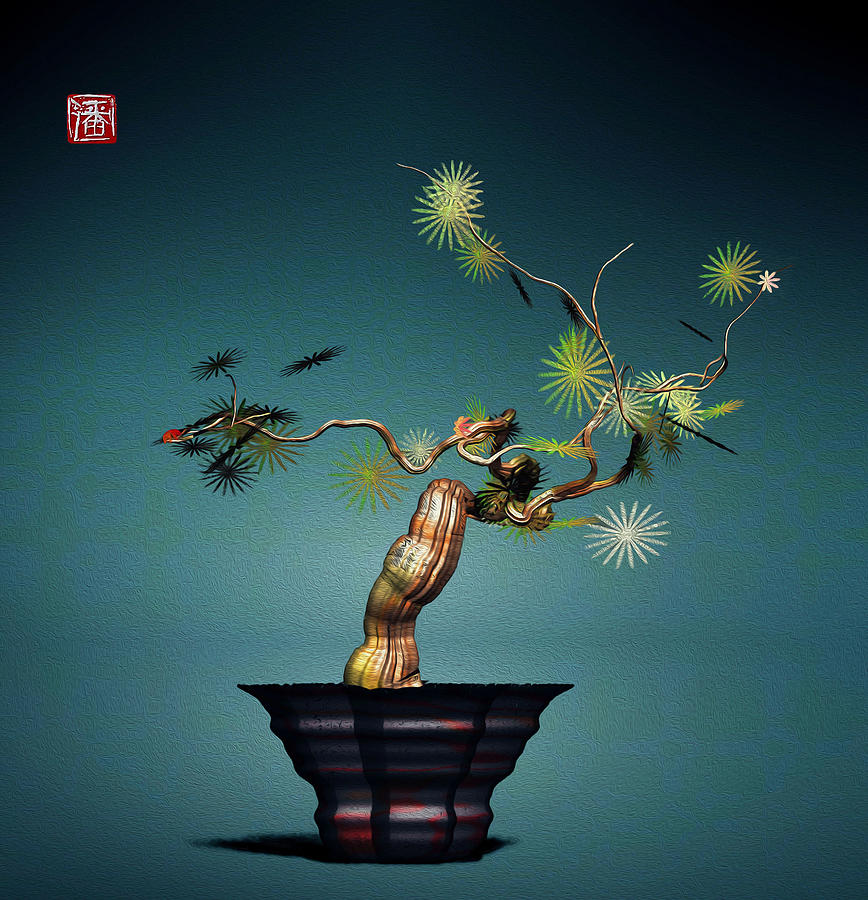 Math Bonsai 3 Digital Art by GuoJun Pan