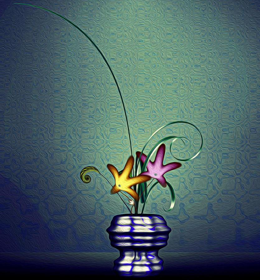 Math Flower 5 Digital Art by GuoJun Pan