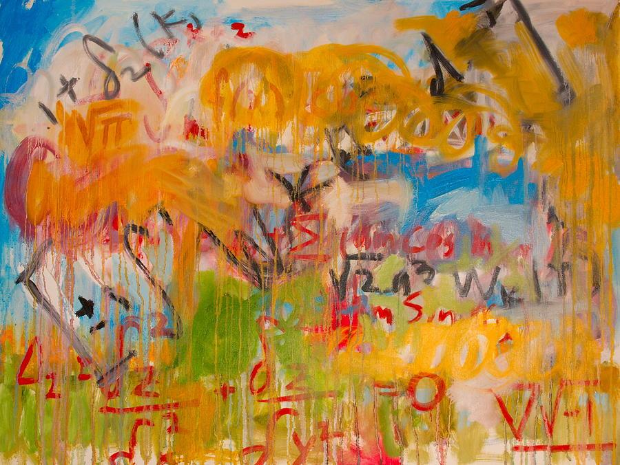 Math Painting - Math II by Michael Henderson