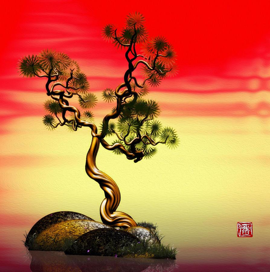 Pine Digital Art - Math Pine 1 by GuoJun Pan