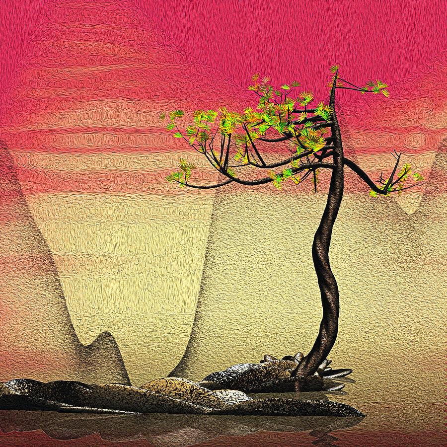 Pine Digital Art - Math Pine 2 by GuoJun Pan
