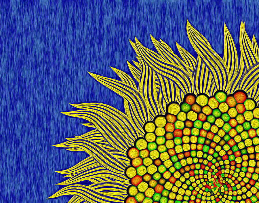 Math Sunflower1 Digital Art by GuoJun Pan