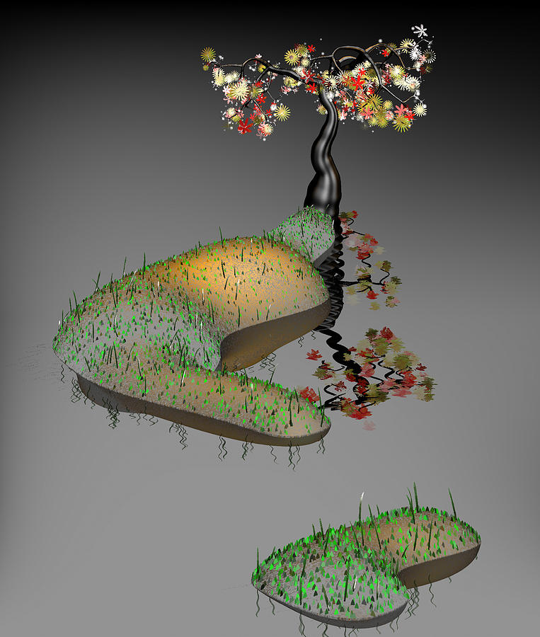 Mathematics Digital Art - Mathematics landscaping 1 by GuoJun Pan