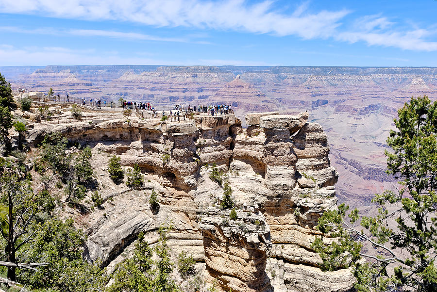 Mather Point Photograph - Mather Point At The Grand Canyon by Julie Niemela