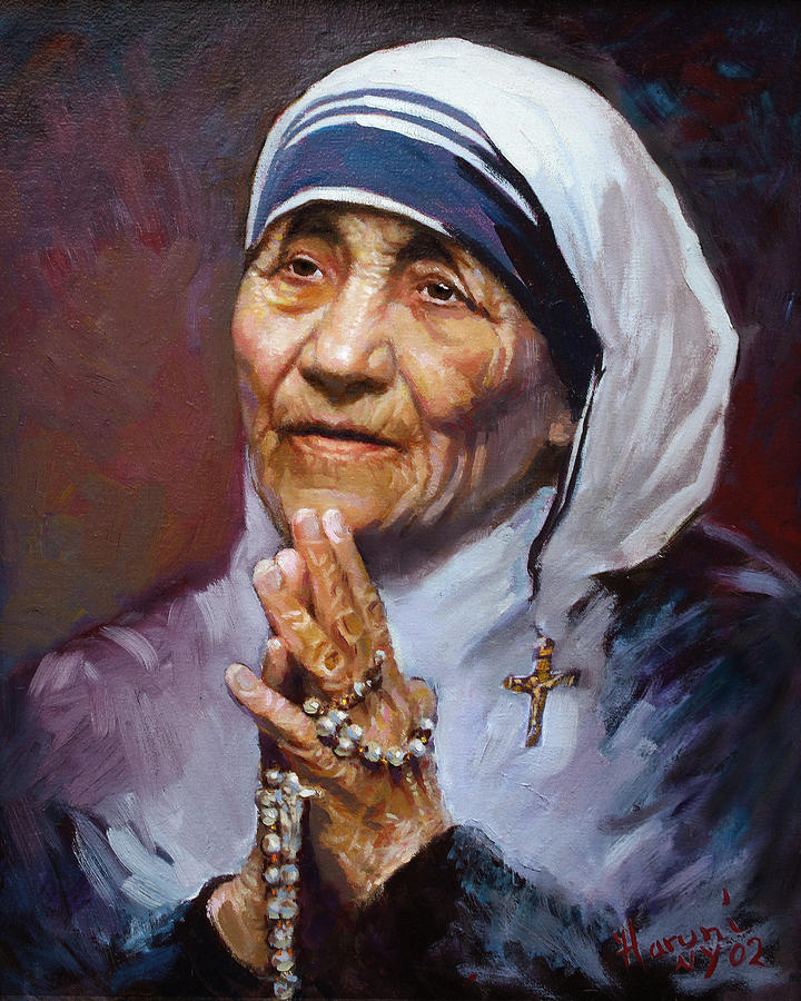 Mother Teresa Painting by Ylli Haruni