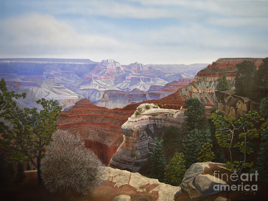 Arizona Painting - Mathers Majesty by Jerry Bokowski