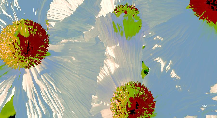 Floral Abstract Photograph - Matilija Poppies Pop Art by Ben and Raisa Gertsberg