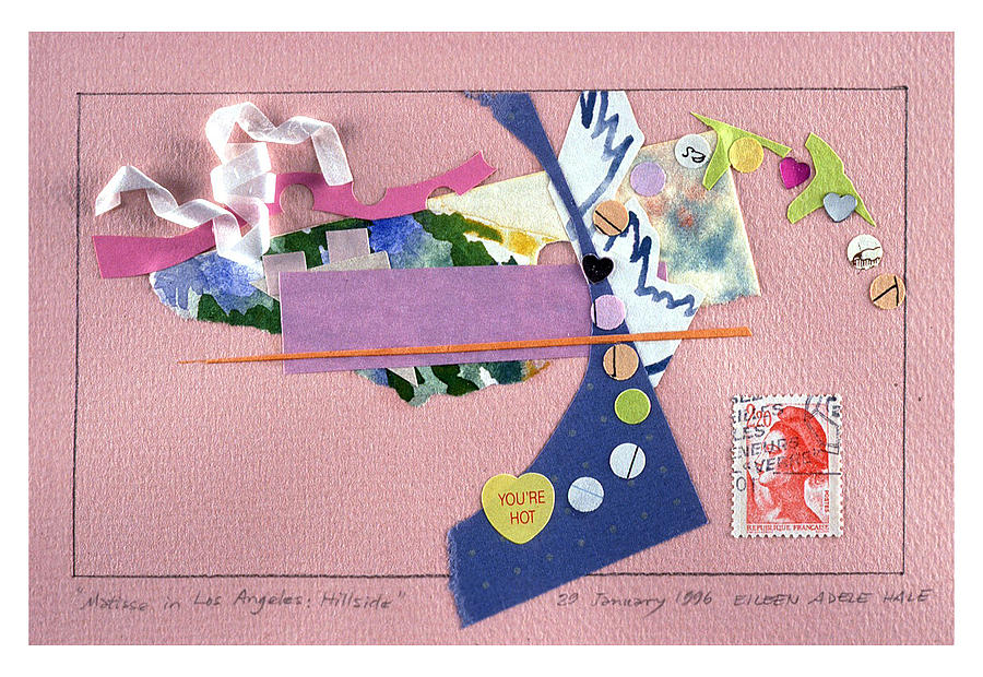 Collage Mixed Media - Matisse In Los Angeles by Eileen Hale