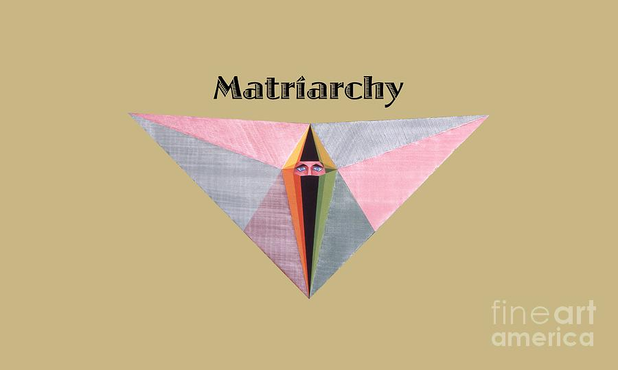 Tarot Painting - Matriarchy text by Michael Bellon