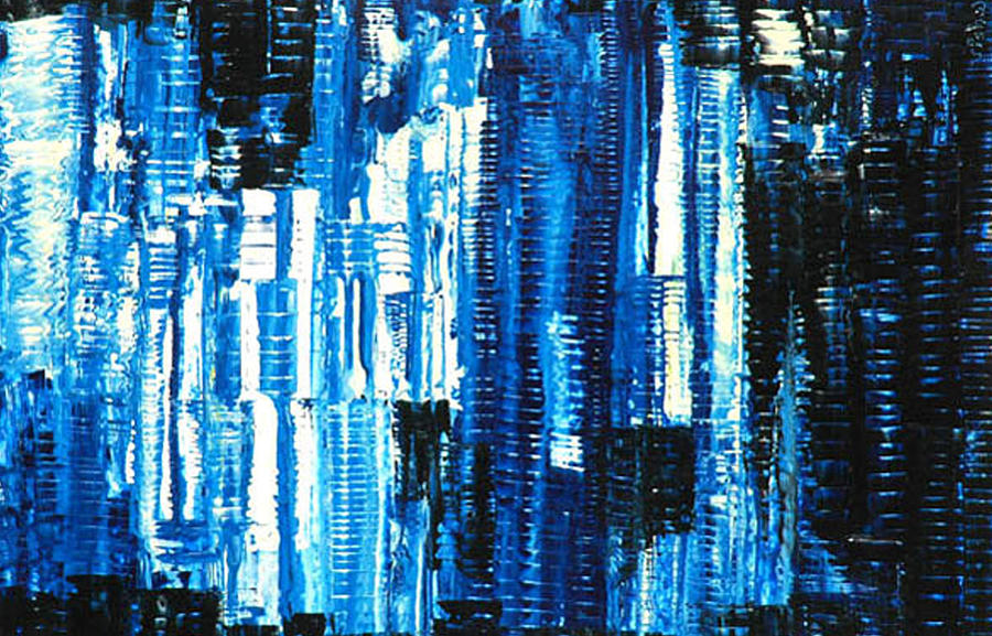 Abstract Painting - Matrix by Vishwesh Sant