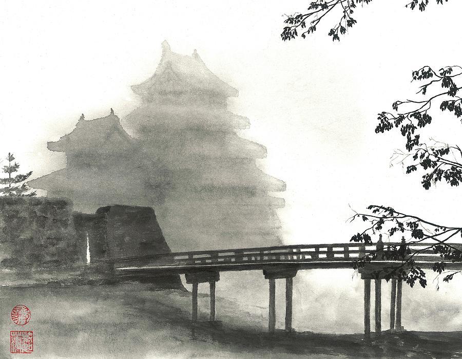 Mist Painting - Matsumoto Morning Mist by Terri Harris